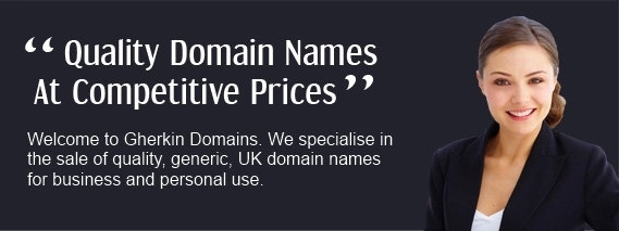 Quality Domain Names At Competitive Prices - Welcome to Gherkin Domains. We specialise in the sale of quality, generic, UK domain names for business and personal use.